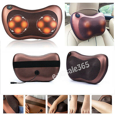 For Car Home Electric Lumbar Neck Back Massage Pillow Cushion Massager with Heat