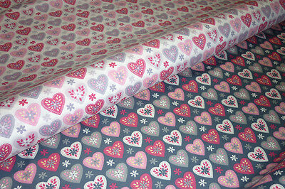 Cot  Fitted  Sheet > Boori Size >. Hearts  Print > 100 % Cotton >> Brand New <<