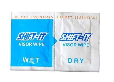 SHIFT IT VISOR WIPES x 2 Motorcycle Visor Wipes