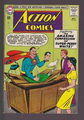 Action Comics # 302 Amazing Confession of Perry White ! grade 8.0 Superman !!