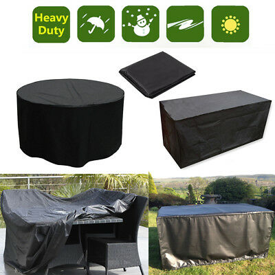 4-10Seater Heavy Duty Waterproof Table Cover Outdoor Garden Furniture Protection