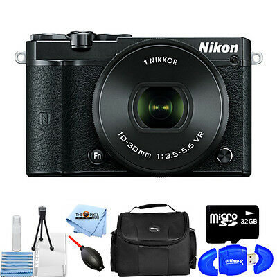 Nikon 1 J5 Mirrorless Digital Camera with 10-30mm Lens (Black)! STARTER KIT NEW!