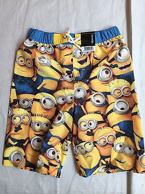 George Despicable Me Minions Boys Swim Shorts Age 9-10 Years