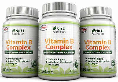 Vitamin B Complex 3 bottles 540 tablets Contains Eight B Vitamins in one tablet