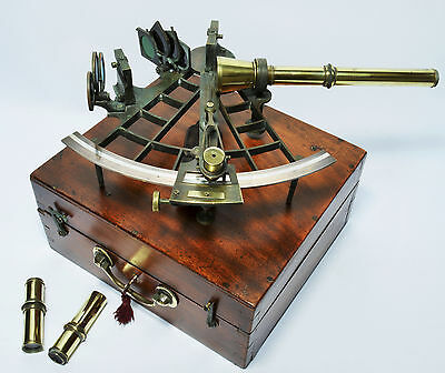 Antique sextant by Constantine Pickering of South Shields, 1903