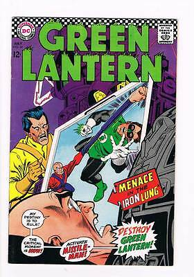 Green Lantern # 54 Menace in the Iron lung ! grade 8.0 scarce book !!