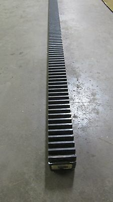"Martin R208X8 Gear Rack Rack And Pinion Rail 8 Pitch 20° 1.5""x1.5""x73"""