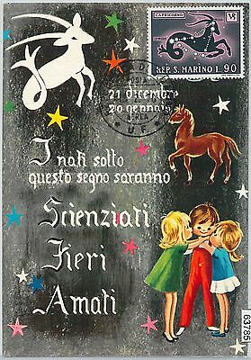 63785 -  SAN MARINO -  MAXIMUM CARD 1970  Horoscope ZODIAC Capricorn