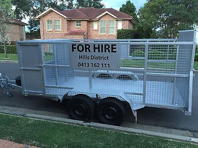 Trailer 12 X 6 caged dual axel FOR HIRE - Hills District