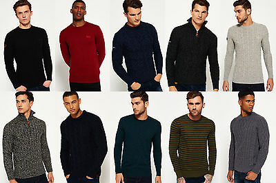 New Mens Superdry Knitwear Various Styles & Colours