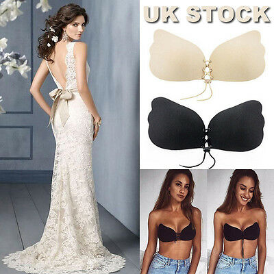 Silicone Adhesive Bras Stick On Push Up Gel Strapless Invisible Bra Backless