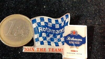 Rothmans Racing Team Brosche Brooch join the team Flagge selten