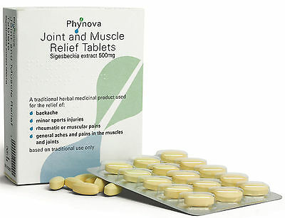 Phynova Joint and Muscle Relief Tablets Sigesbeckia Extract 500mg 60 Tablets