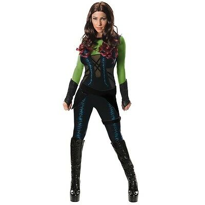 Gamora Costume Adult Guardians of The Galaxy Halloween Fancy Dress