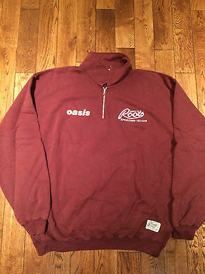 Oasis Ultra Rare Roots Canada Vintage Sweater Original Maroon L/XL