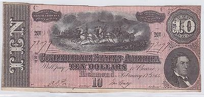 Ten Dollars Confederate States Of America 17 Fevrier 1864 (1)