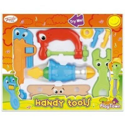 Handy Toy Tools - 9 piece Screwdriver toy set - Action + sounds for 10+ mths