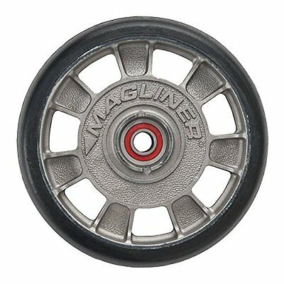"""Magline 10815 8"""" Diameter Mold On Rubber Wheel with Red Sealed Semi Precision"""