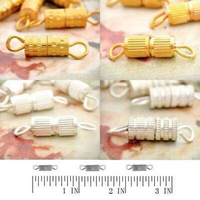 50/55/50/65pcs BARREL Column SCREW IN CLASPS FOR Jewellery Crafts Findings
