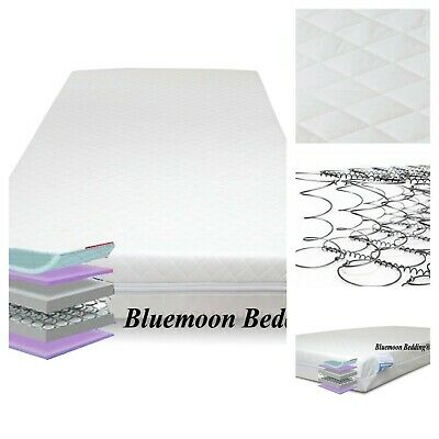Baby Breathable Pocket Sprung Cotbed / Cot Bed Mattress 140 X 70 X 13Cm Spring