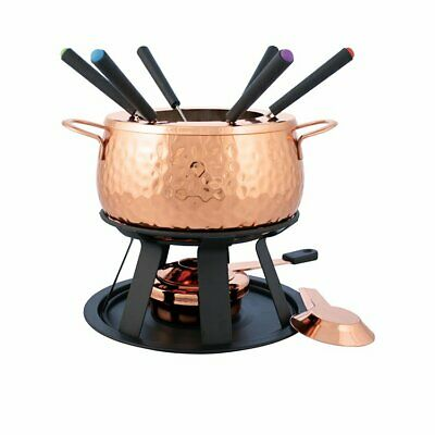 NEW Swissmar Biel Fondue Set 11pc Copper (RRP $210)