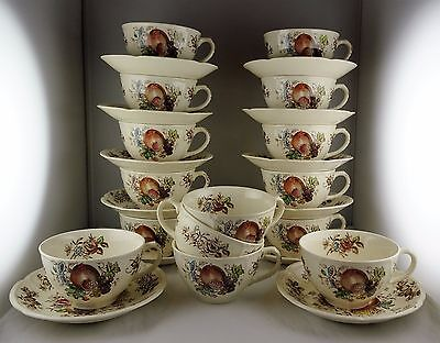 12 Johnson Brothers English China Windsor Fruit Cup & Saucer Sets