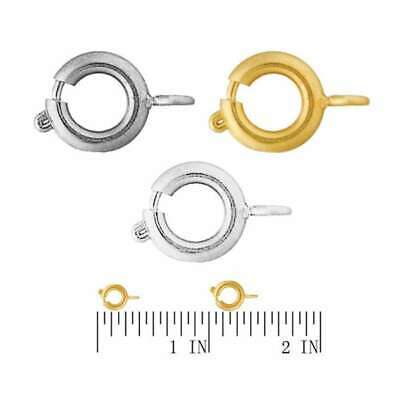 Spring Ring Bolt Clasp For Bracelet necklack Jewellery Making Findings Wholesale