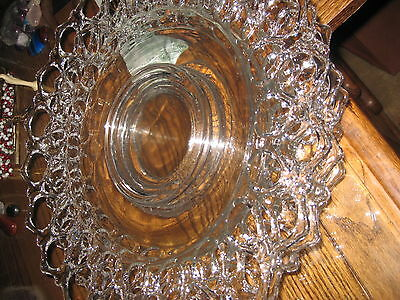 13 PLATES  Hand Blown Art Glass Table Platter Plate Clear Wall Hanging Vintage