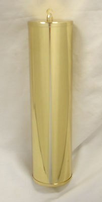 NEW Polished Solid Brass Grandfather Clock Weight Shell - 63mm x 284mm (WS-11)