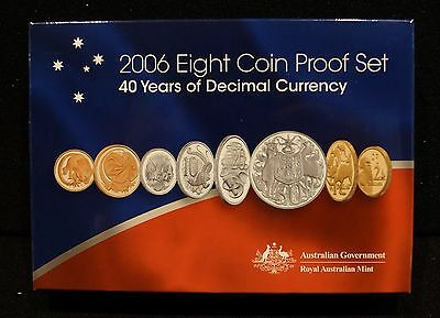 2006 Royal Australian Mint 8-Coin Proof Set - 40 Years of Decimal Currency