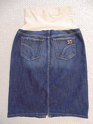 Joe's Jeans A Pea in the Pod Maternity Panel Dark Blue Denim Skirt Size-30/M