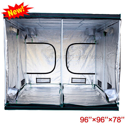 96''x96''x78'' Indoor Grow Tent Room Reflective Mylar Non Toxic Hut Hydroponic