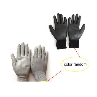 1/12 Pairs Black PU Safety Work Glove Antistatic Protect Palm Coated Gloves New