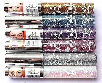 Glitter Liquid Eyeliner Sparkle Metallic Shimmer Eye makeup liner Long Lasting