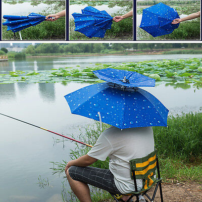 Outdoor Double Layer Fishing Beach Golf Umbrella Hat Raining Or Sun Head Umbrell