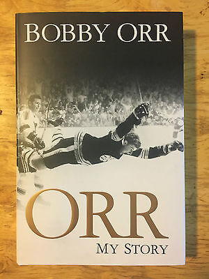 """BOBBY ORR Signed Autographed """"My Story"""" First Edition Hockey Book Mint Condition"""