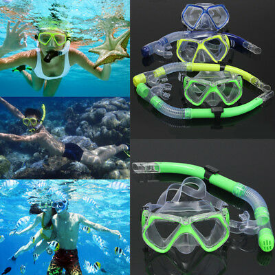 Adult Scuba Diving Snorkel Set Dive Mask Water Goggles Snorkeling Swimming Kit