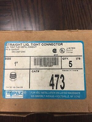 "Lot Of Liquid Tight Straight Connector 1"" inch Flex Metal Conduit NEW"