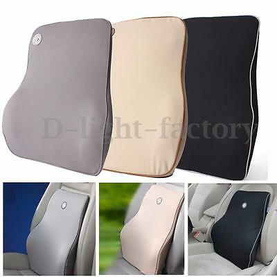 Back & Head Pain Support Cushion Pillow Memory Foam Lumbar Chair Car Office Pad