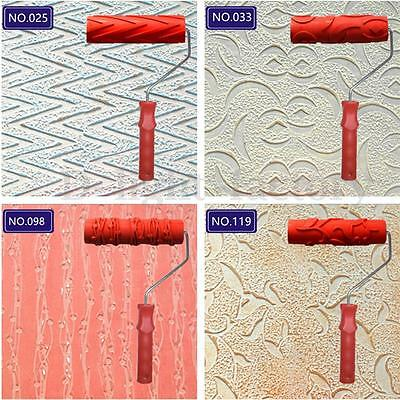 7'' Handle Empaistic Pattern Paint Painting Roller Painter Wall Decor Tool