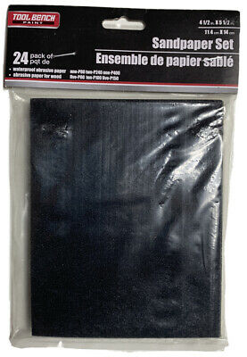 Sandpaper Assorted Grit 36 Sheet Sanding Size 5.5 x 4.5 inch Wood Paint