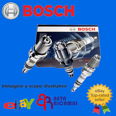 4 Candele Bosch 0242135515 Fiat Panda  (169) 1.2 Gpl - Natural Power  Yr7Dc+