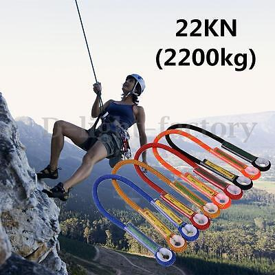 60/100/120cm Rock Climbing Harness Safety Loop Rope Sling Tree Abseil Rescue