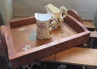 Charming Vintage French  Hand Crafted  Wooden Serving Tray  ~ Country Home