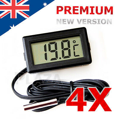 4x LCD Digital Temperature Thermometer Fridge Freezer Aquarium FISH TANK Meter