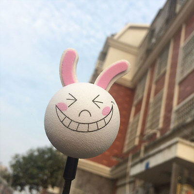 Smiling Rabbit Car Vehicle Decoration Aerial Ball Antenna Topper Decor