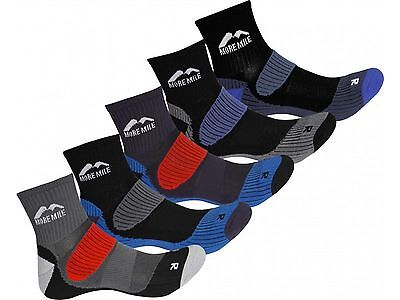 5 Pair Pack More Mile Cushioned Trail Padded Running Sports Socks Mens Ladies