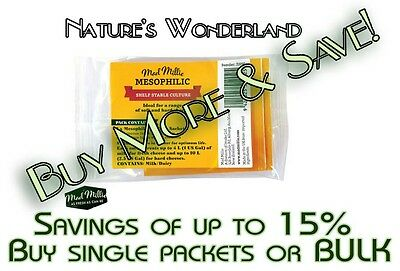 MESOPHILIC CULTURE Sachets  - CHEESEMAKING Feta, Cottage etc 5 pack - Mad Millie