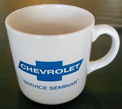 Vintage Chevrolet  Service Seminar Recreational Vehicles Coffee Mug Chevy Cup