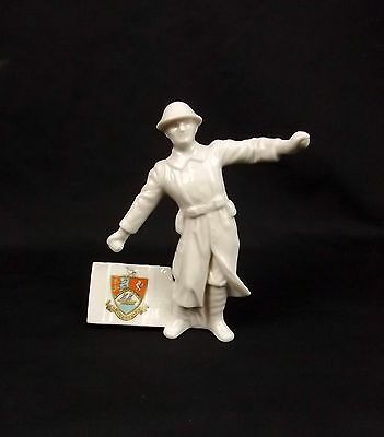WW1 Grafton Broadstairs Crested China Model Of The Bomb Thrower